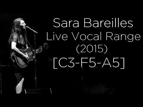 Sara Bareilles - Live Vocal Range (2015) [C3-F5-A5]