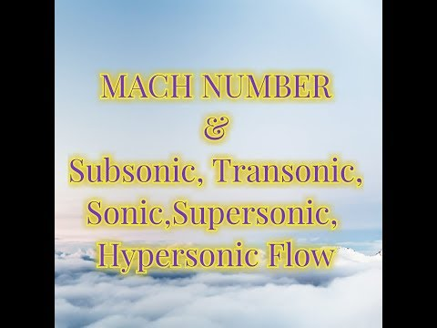 Mach Number & Sonic, Supersonic Flow.