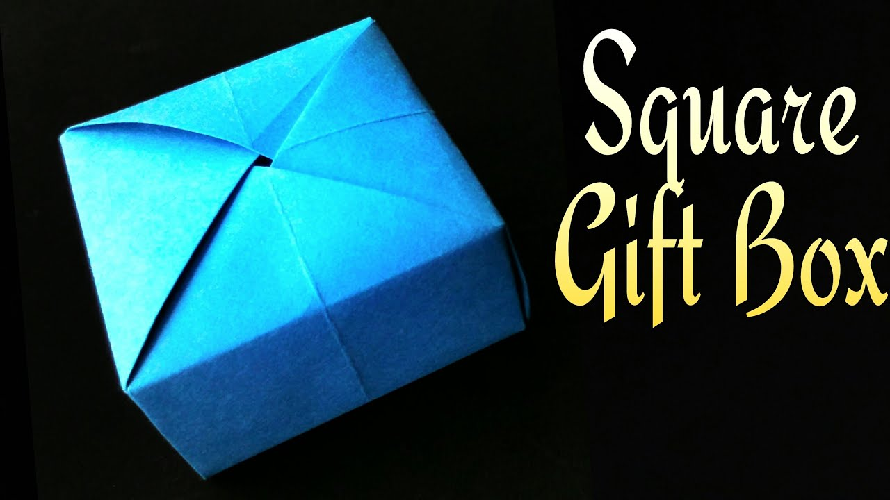 "Origami tutorial - Paper ""Square Gift covered Box"" - Using ... - photo#12"