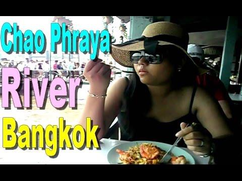 CHAO PHRAYA RIVER LUNCH - Bangkok Thailand [HD]