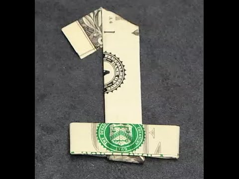 fold origami dollar bill number 1 youtube
