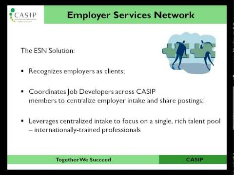 Webinar: Employer Services Network - A Model of Job Development Coordination