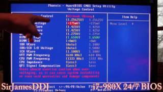 intel core i7 980x gulftown bios 24 7 oc 4 1ghz low vcore