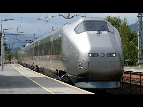 Trains In Norway - Züge in Lier und Oslo - Zug, trainfart, train 4K