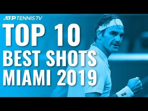 Top 10 Best Shots Rallies Miami Open 2019 Youtube