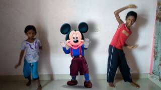 how to dance with Mickey mouse  Funny   cartoon  Kids  Chella Kutties