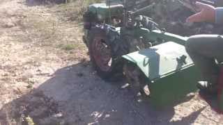 Agria 1900 D Lombardini diesel LDA 96 climbing hard track, Llutxent. Einachser. Motocultor. Tractor.