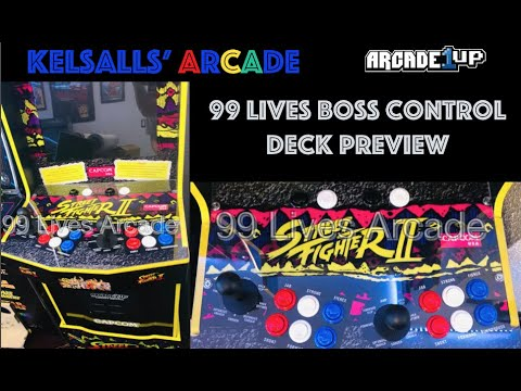 99 Lives Boss Arcade Deck for Arcade1up Street Fighter 2 Legacy Preview from Kelsalls Arcade