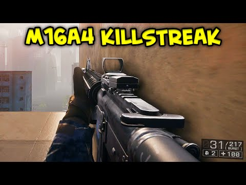 BATTLEFIELD 4 - 63 Killstreak M16A4 Assault Rifle Gameplay 69-4 Flood Zone