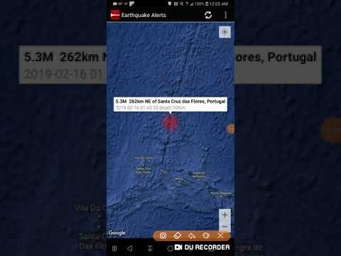 Strongest Earthquake of the Day: February 16th, 2019 Santa Cruz Das Flores, Portugal