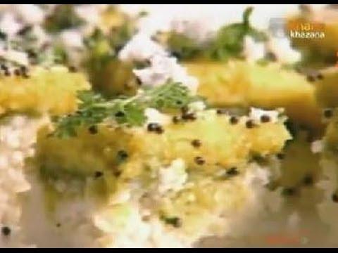 How To Make Tiranga Dhokla | Tricolour Dhokla Recipe | Soft Dhokla | Sanjeev Kapoor | Khana Khazana