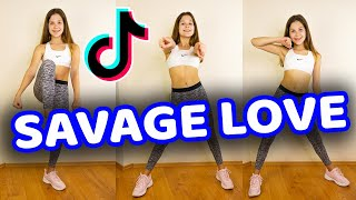 Savage love tik tok tutorial tiktok dance ❤️please subscribe: ►https://tinyurl.com/subscribetodanig ☑️my clothes and fitness gear: my yoga mat: http...