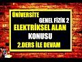 Ünİversİte fİzİĞİ 2 elektrİk alan ve yÜk konusu 2 ders elektrİk alan kismi genel fİzİk derslerİ mp3