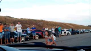 Audi S3 stock( 300hp) vs Bmw E30 (350hp) drag race