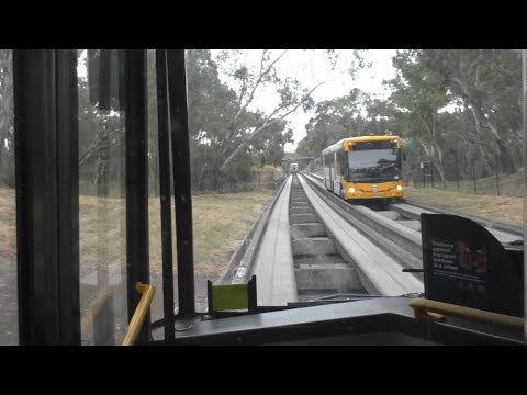 A Complete Ride On Adelaide's O-Bahn Busway: Tea Tree Plaza - City Via O-Bahn Tunnel
