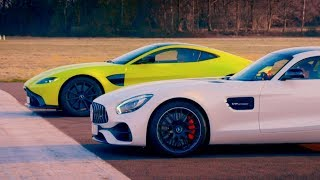 Aston Martin V8 Vantage vs Merc-AMG GT S   Top Gear: Series 26