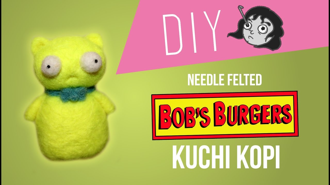 Kuchi Kopi Night Light Ikea Bob's Burgers - Diy Needle Felt Kuchi Kopi - Youtube