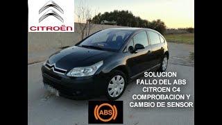 FALLO de ABS CITROEN C4 /CAMBIO DE SENSOR/ HOW TO REPLACE ABS SENSOR CITROEN C4