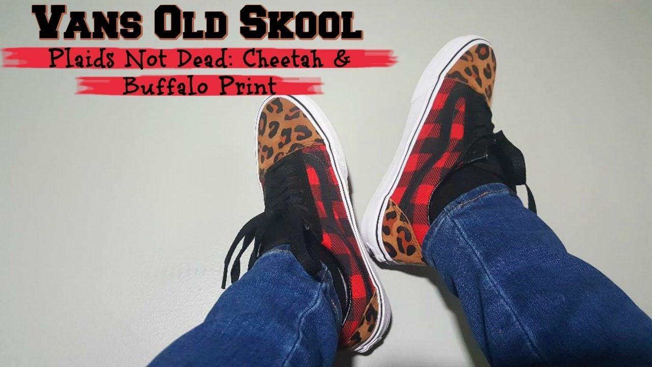 Vans Old Skool Plaids Not Dead: Cheetah