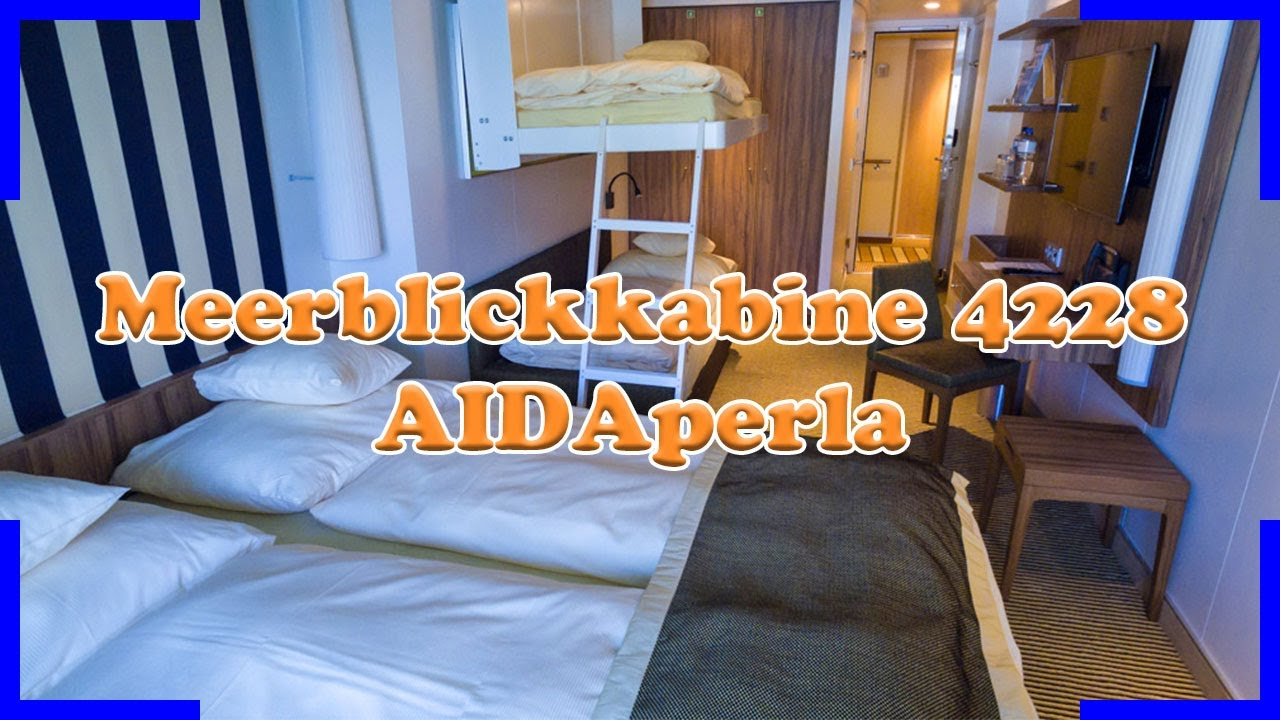 aidaperla meerblickkabine 4228 4 personen kabinenrundgang youtube. Black Bedroom Furniture Sets. Home Design Ideas