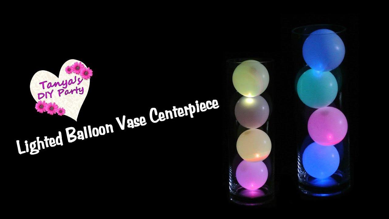 Balloon centerpiece idea with lights diy youtube