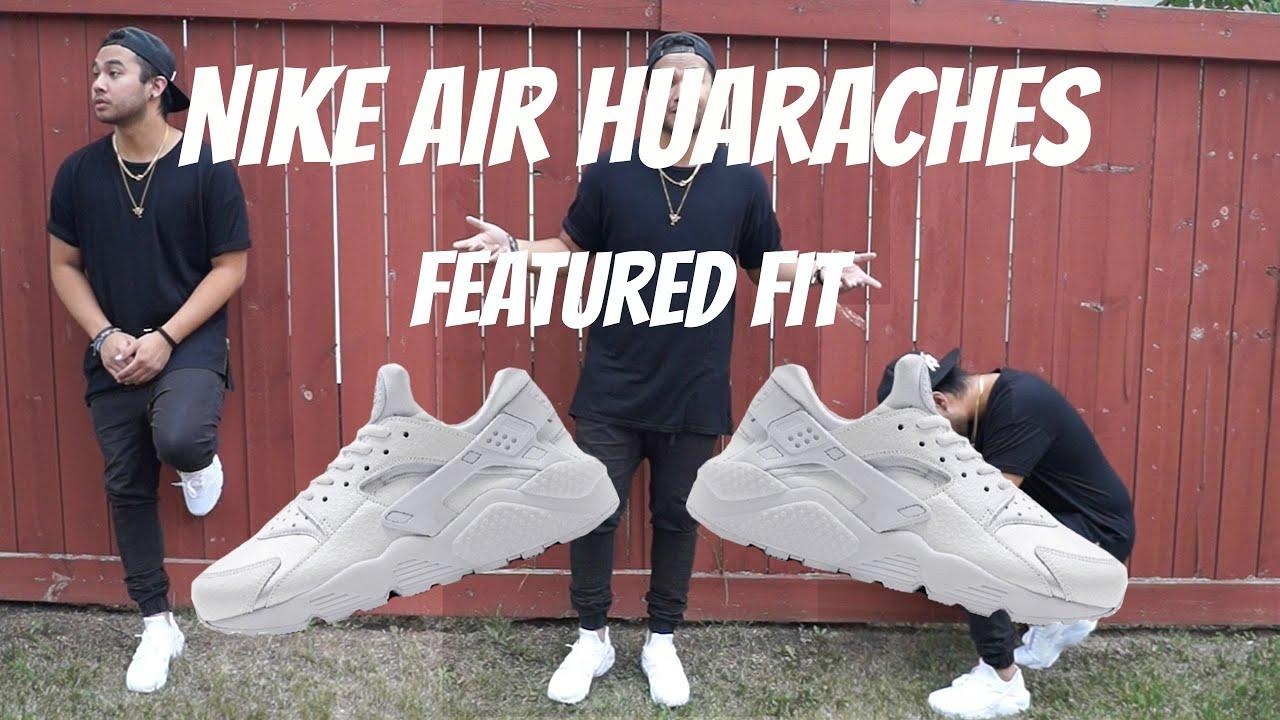 Nike Air Huarache White Outfit