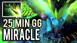 25 Min Fast GG by Miracle- in 2017 Super Carry Morphling in The World 7.01 Dota 2