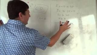 Алгебра 9 класс. 16 октября. системы неравенств #6