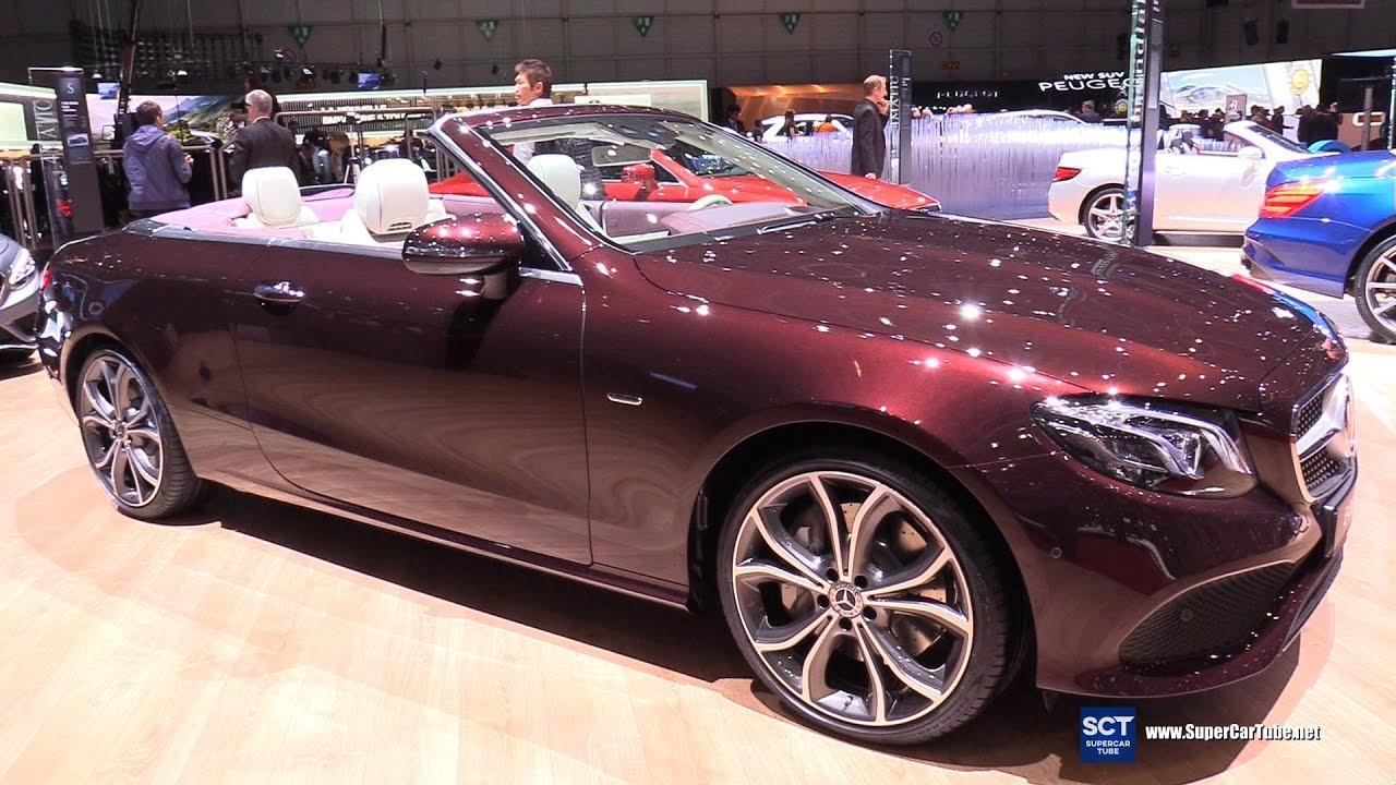 hight resolution of 2018 mercedes benz e400 cabriolet exterior interior walkaround debut 2017 geneva motor show