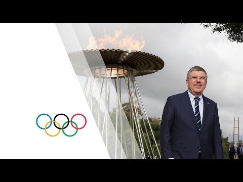 IOC President Visits Sydney Olympic Park