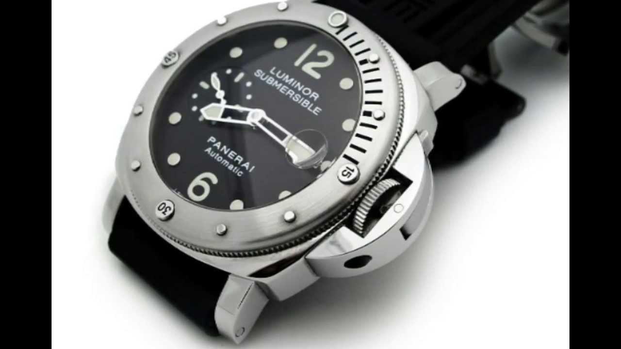 b301266b755 Panerai Luminor Submersible Stainless Steel PAM24 Ref  PAM24 - YouTube