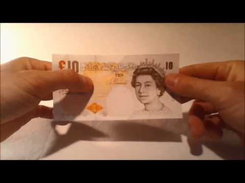 Ten Pound sterling note- Design and security features