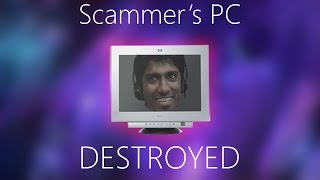 SCAMMER'S PC DESTROYED! [RAT AND RANSOMWARE]