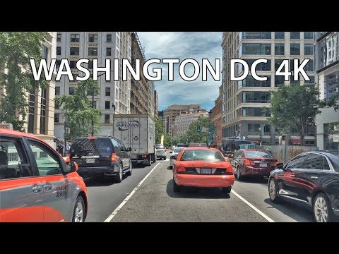 Driving Downtown - Washington DC USA 4K