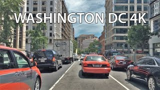 Driving Downtown - Washington DC 4K - USA
