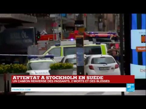 Attentat en Suède : un camion renverse des passants, au moins 2 morts et des blessés