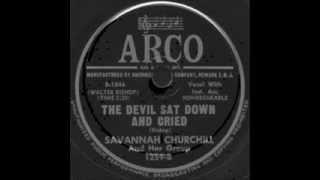 Savannah Churchill & Her Group - The Devil Sat Down And... / CanAnyone Explain... (Arco 1259) 1950