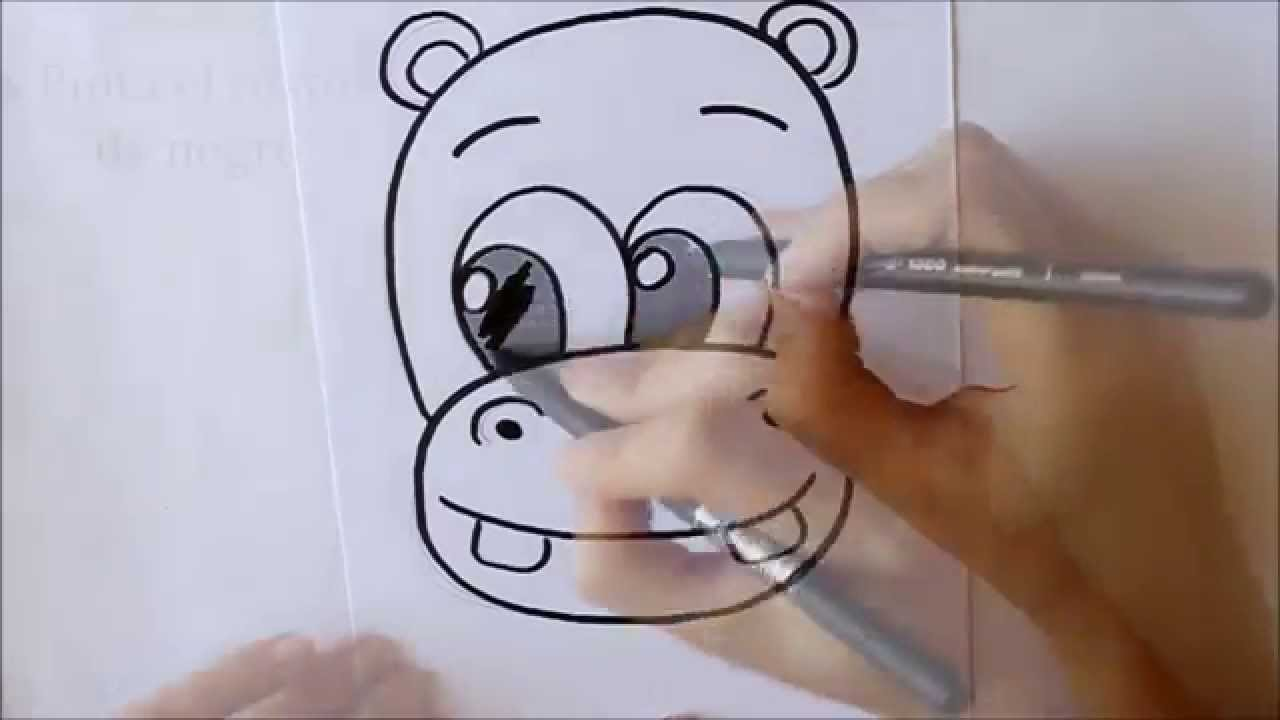 Cmo dibujar un Hipoptamo cara Dibuja Conmigo Dibujos de