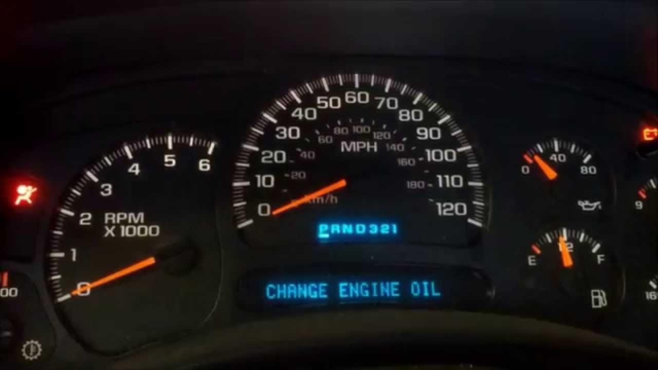 Como Restaurar Mensaje Quot Change Oil Soon Quot Cambio De Aceite