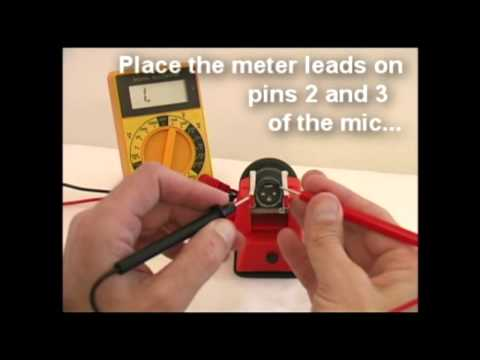 How to Test a Microphone with a Multimeter - Technical Training for Musicians.