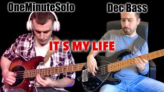 Gambar cover Bon Jovi - It's My Life Double Bass Cover // OneMinuteSolo + Dec Bass