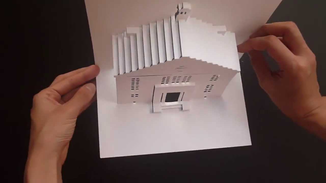 Pop Up Little House Card 2 Tutorial Origamic Architecture You