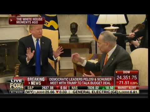 FIREWORKS! TRUMP Blasts Pelosi and Schumer on Border Wall Funding at WH Meeting