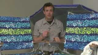 2 Rio Hibiscus Beach Chairs + 1 Ripcurl Stripe Umbrella And 1 Anchor - Product Review Video