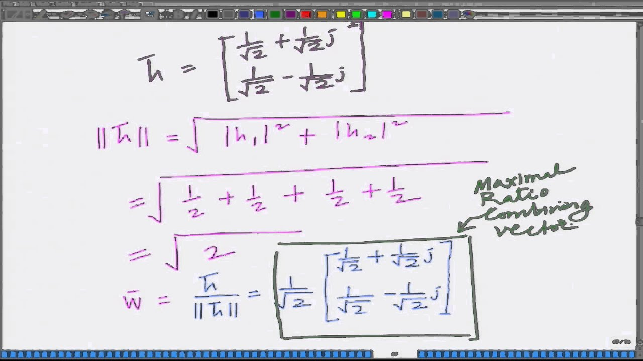Lecture 13: Maximal-Ratio Combining