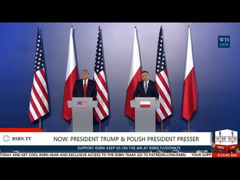 FULL EVENT: PRESIDENT TRUMP PRESS CONFERENCE WITH POLISH PRESIDENT DUDA 7/6/17 4:00 AM EDT