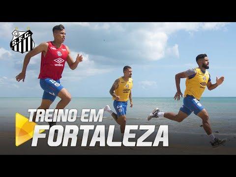 SANTOS TREINA EM FORTALEZA PARA DECISÃO DA COPA DO BRASIL