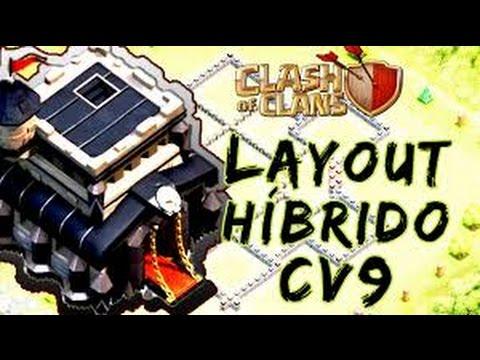 O Melhor Layout [Híbrido] Farm Cv9 | Atualização 2016 | New Th9 Hybrid | Clash of clans