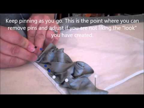 How to Make Rose Edge Detail for Soft Furnishings