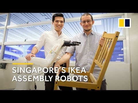 This Singapore-made robot can assemble IKEA furniture in 20 minutes